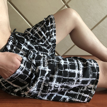Women's Short Cotton Woven Shorts cotton silk Men Lounge pants