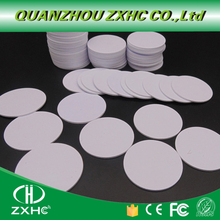 (100pcs/lot) F08 (Compatible MF1 S50) Waterproof 25mm x 1mm 13.56 MHz RFID Promixity Tag PVC Coin Card