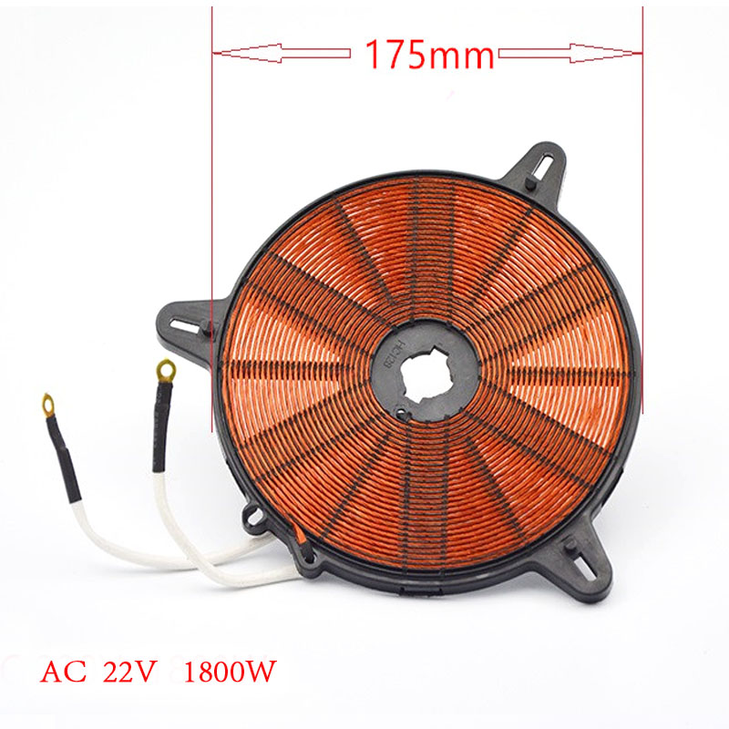 1800W  175mm  coil panel for induction cooker,electromagnetic oven disk coil electric 4 heads and 6 heads induction cooker embedded electromagnetic oven household commercial electromagnetic furnace cooking