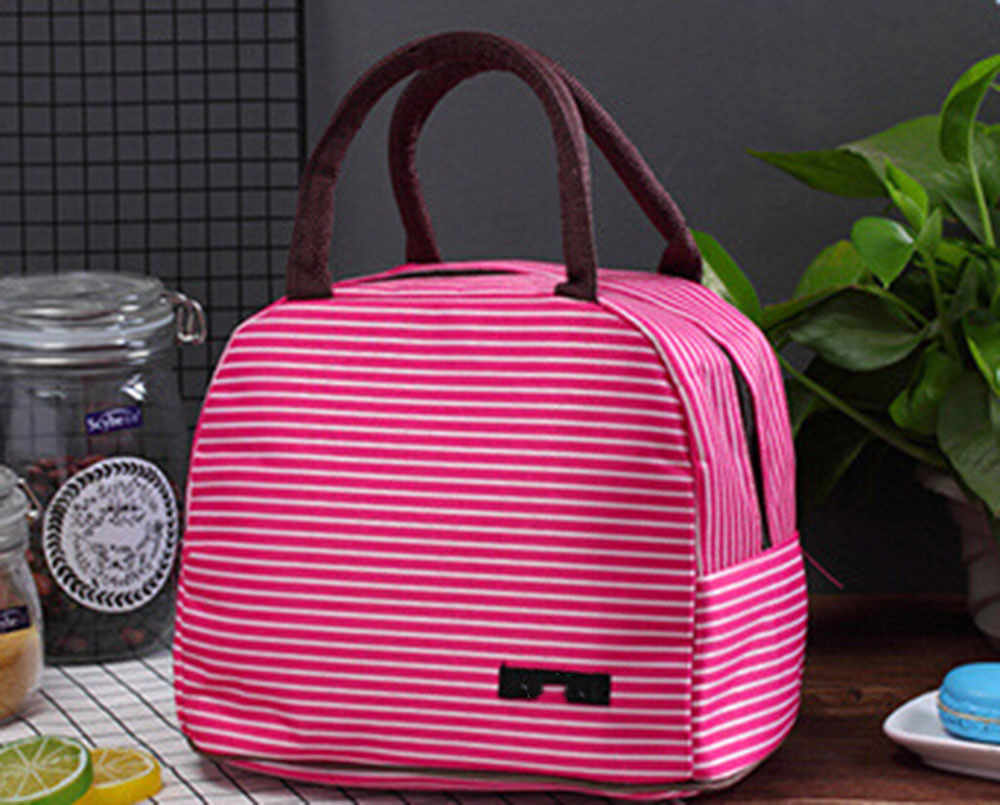 Fashion Men Women Kids Portable Insulated Thermal Cooler Lunch Box Picnic Case Storage Bag Carry Tote Oxford Waterproof Handbag