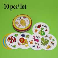 10 pcs/lot spot animals for wholesale high quality Germany paper for family fun enjoy it cards game board game