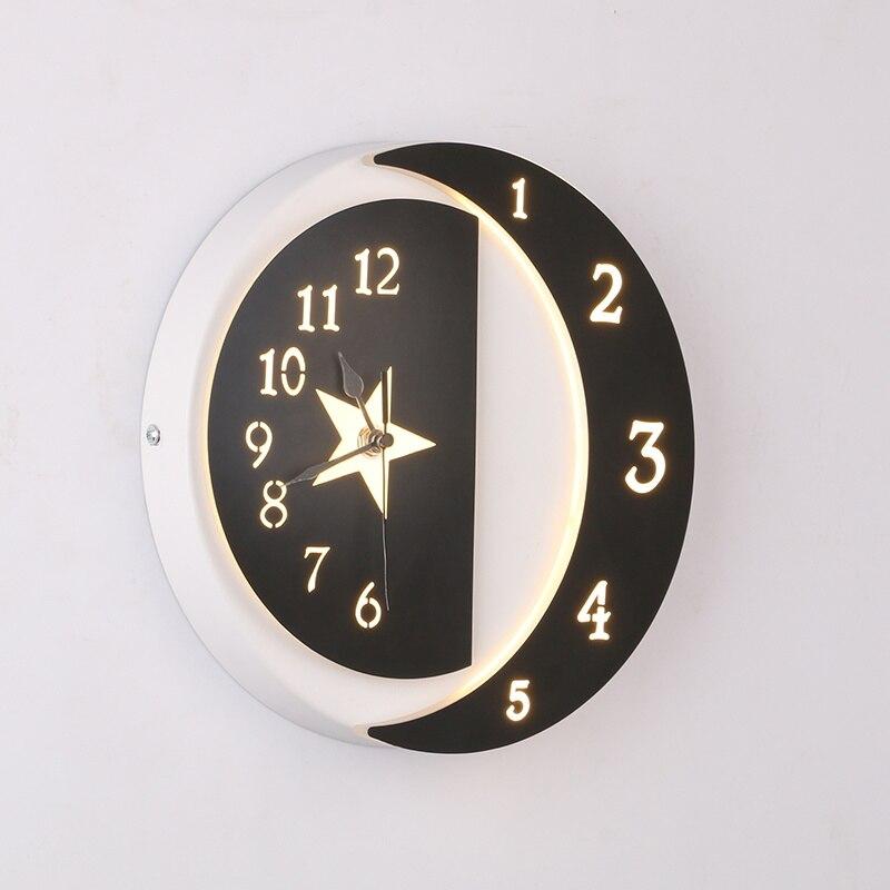 Enfants Chambre De Chevet Étoiles Fleur Horloge Murale Applique ...