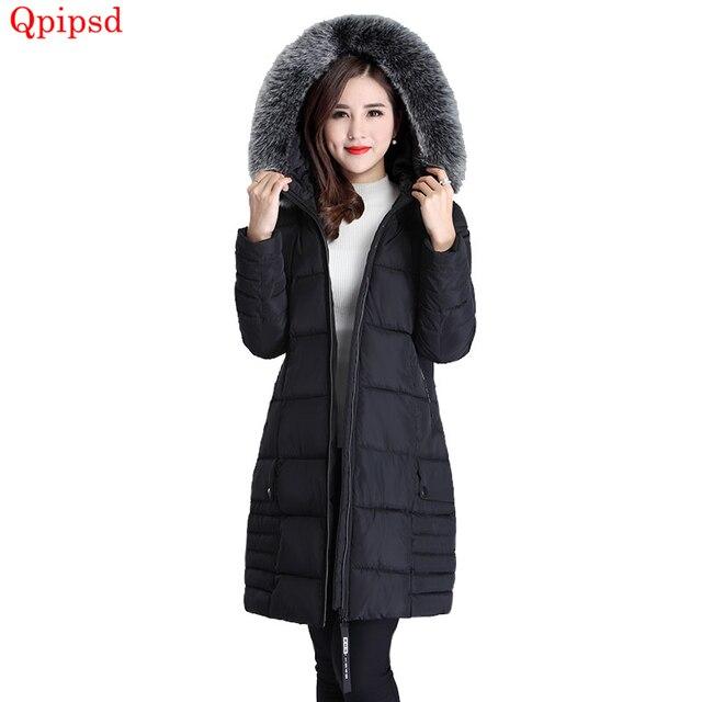 Plus size 5XL Winter Long Jacket 2018 New Winter Coats Women Big Fur Collar Warm Woman Parka Outerwear Down Jacket Winter Jacket