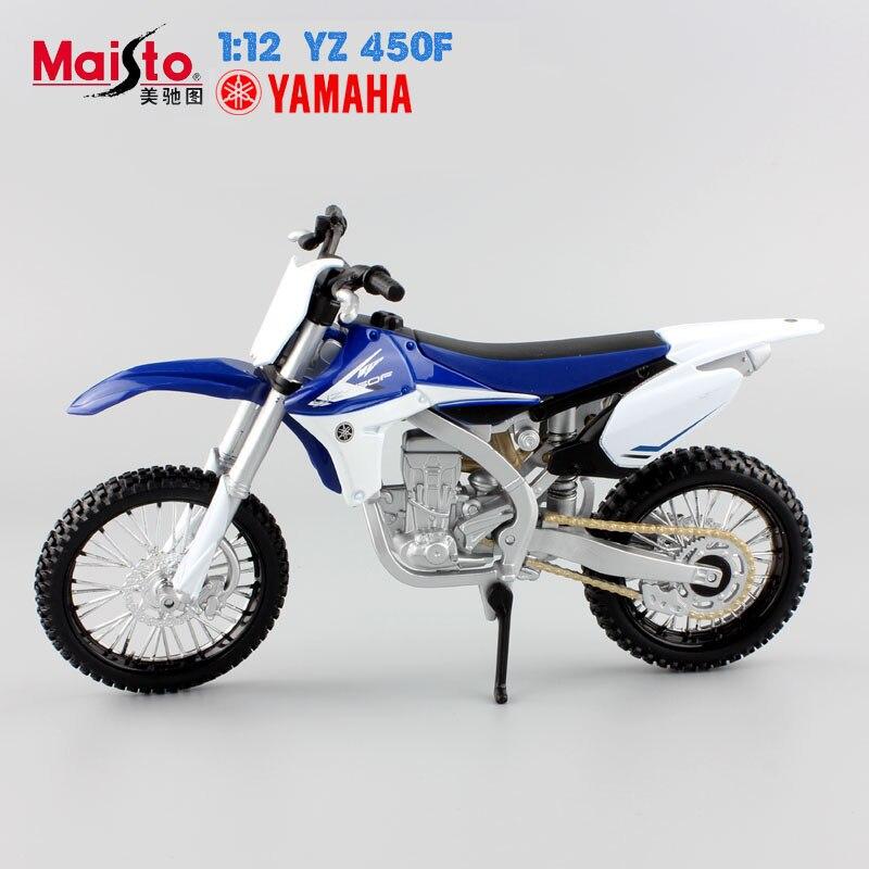 1:12 Auto moteur yamaha Supercross moto YZ 450F modèles voiture de course Miniatures moto Alliage en métal modèles enfants jouets pour garçons