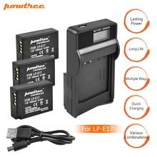 цена на 3Packs 7.2V 1500mAh LP-E17 LPE17 LP E17 Camera Battery + USB Charger For Canon EOS M3 M5 750D 760D T6i T6s 8000D Kiss X8i L15