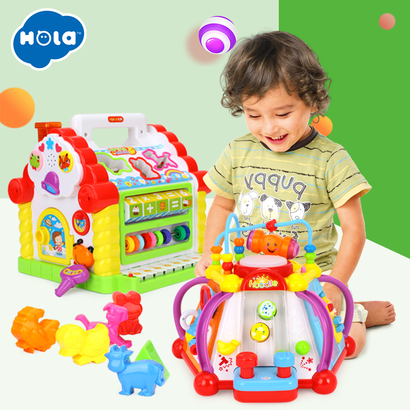 Wholesale Toys Multifunctional Musical Toys Baby Fun House & Happy Small World Puzzle multifunctional musical toys colorful baby fun house electronic geometric blocks sorting learning educational toys gifts nobox