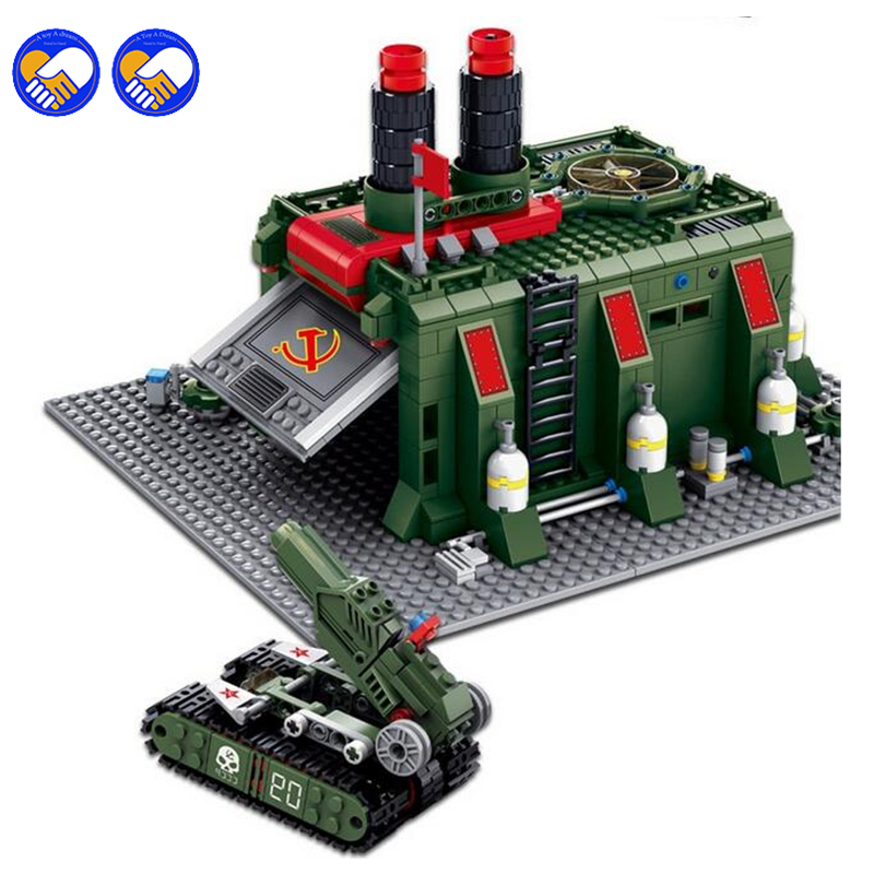 A toy A dream 794PCS KaZi 81008 Red Alert 3 war factory small particles assembled toy building blocks compatible Legoingly