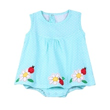Baby Girl Rompers Summer Cotton Infant Jumpsuits Roupas Bebes Colorful Cartoon Newborn Princess Skirt Toddler Girls Clothes недорого