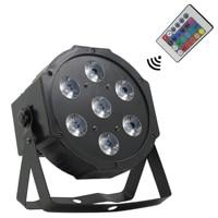 Luzes Do Palco LEVARAM 7X12 W 4in1 RGBW DMX Luz Par 512 Lâmpada com Controle Remoto