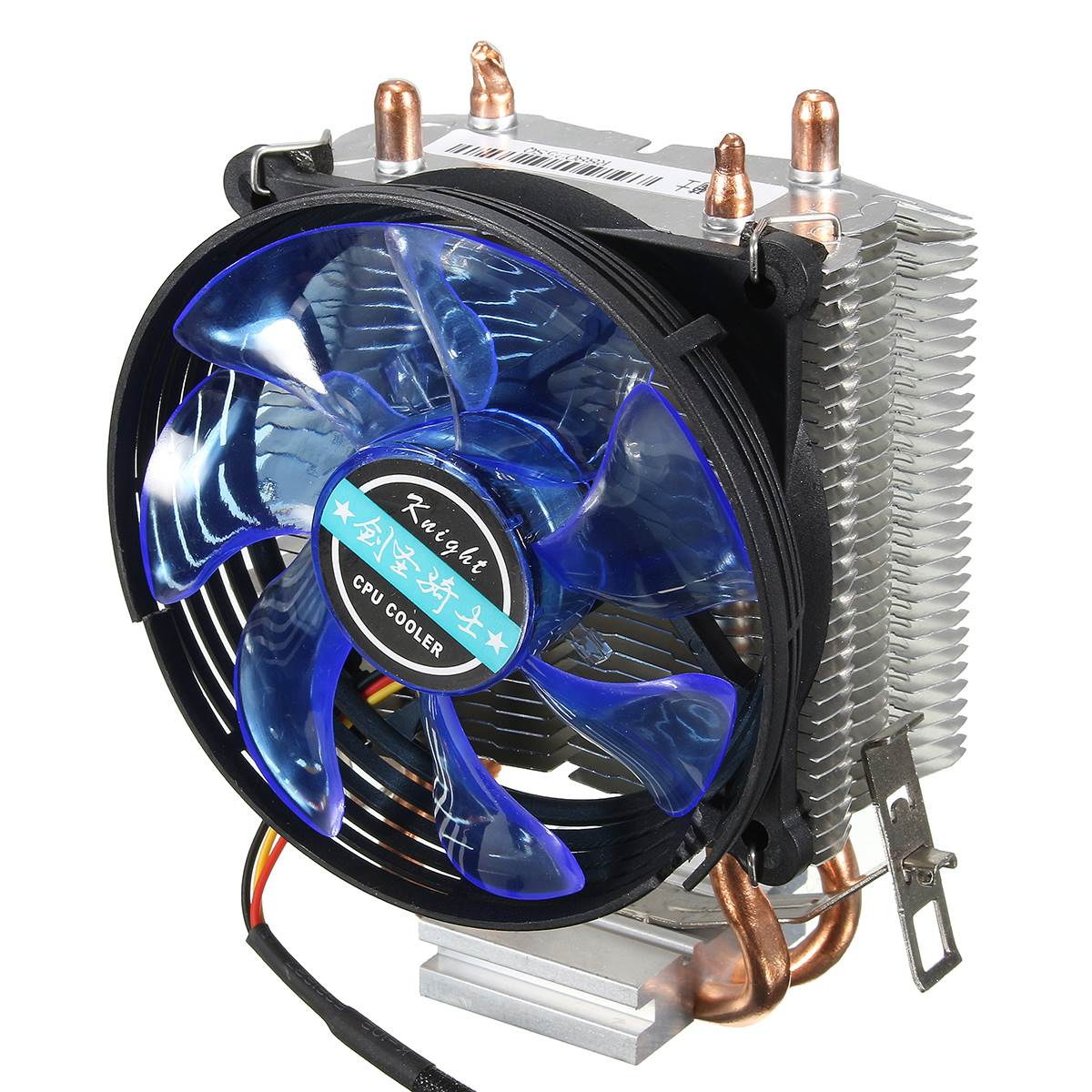 95x95x25mm LED Cooler Cpu Fan Heatsink Copper for Intel LGA775/1156/1155 for AMD AM2/AM2+/AM3 2 heatpipes blue led cpu cooling fan 4pin 120mm cpu cooler fan radiator aluminum heatsink for lga 1155 1156 1150 775 amd