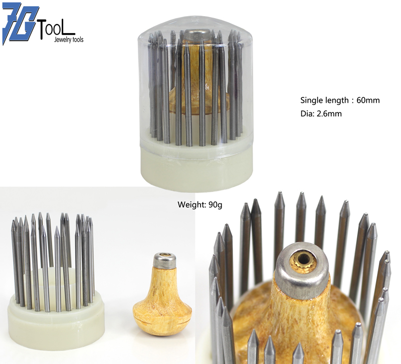 23pcs Bead Grain Tools Set Graver Beader With Graver Wood Handle For Goldsmith Diamond Stone Setting Graver Jewelry Tools Kit