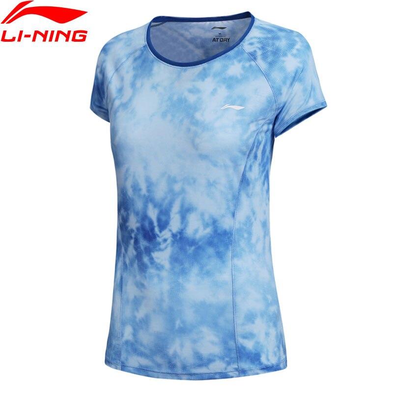 (Break Code)Li-Ning Women Training T-Shirt AT DRY 85%Polyester Regular Fit LiNing Li Ning Fitness Sport Tee Tops ATSN142 WTS1446