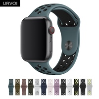 URVOI sport band for Nike+ apple watch Series 432 silicone strap for iwatch Flexible Breathable new offcial color 38 42 40 44mm