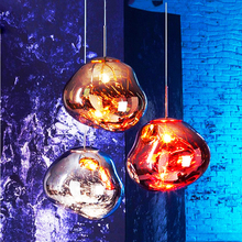 Modern Ceiling Lights Chandelier Melt LED Plated Glass Pendant Lamps Lights Living Room Bedroom Cafe Restaurant Home Lighting modern 2015 new american style vintage industrial lamps restaurant bedroom living room cafe lights chandelier personality