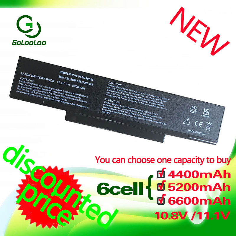 Golooloo Laptop Battery For Asus F3J A32-F2 A32-F3 A32-Z94 BTY-M66 A32-Z96 SQU-503 SQU-511 SQU-526 SQU-528 SQU-529 SQU-706