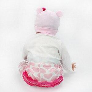 Image 5 - 16/22 אינץ סיליקון Reborn תינוק בובת 40cm בחיים Bebe Menina ממולא לשחק צעצועי Reborn בובות 55cm יום הולדת הפתעה מתנות