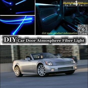 ل كاديلاك xlr/XLR-V الداخلية المحيطة ضوء ضبط جو أضواء الألياف البصرية النطاق داخل الباب لوحة الإضاءة ضبط