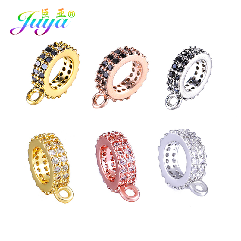 Juya DIY Jewelry Components METAL Separator Charm Beads Connector Bail Accessories For Women Handmade Decoration Jewelry Making
