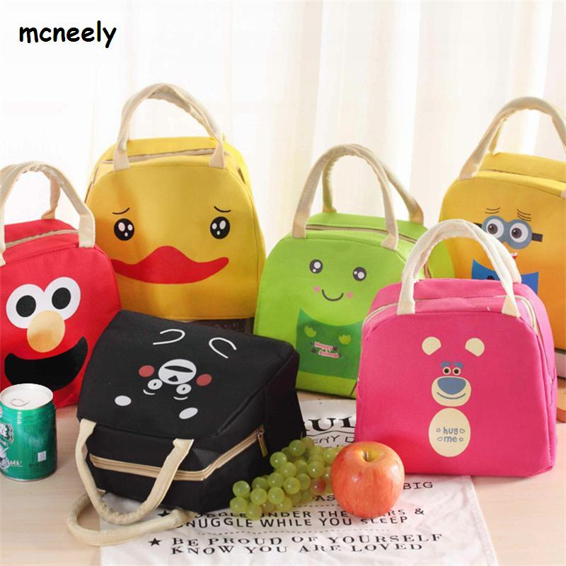2018 Waterproof Lunch Bag for Women Kids Men Cooler Lunch Box Bag Tote canvas Lunch Bag Insulation Package Portable striped tote lunch bag