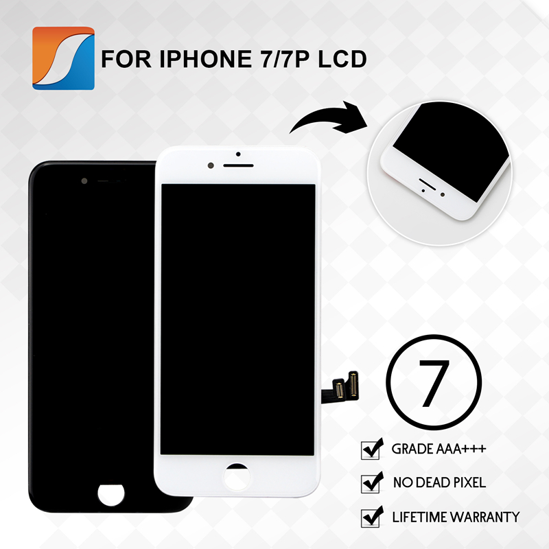 AAA For iPhone 7 7Plus LCD With Touch Screen Digitizer Assembly Replacement Display No Dead Pixel