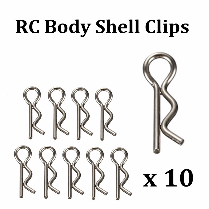 10Pcs RC 1//10 Body Clips Pins Bend Remote Control Car Part Truck Buggy Shell