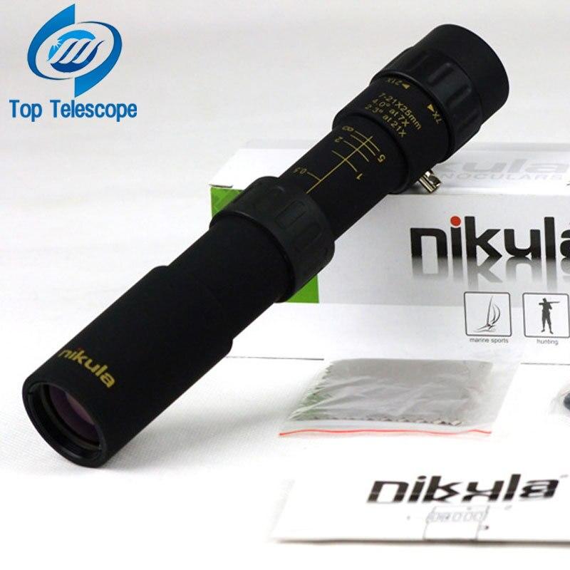 Original binóculos Nikula 10-30x25 Zoom Monocular Telescópio de alta qualidade Bolso Binóculo Caça Âmbito Prisma Óptico sem tripé