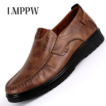 New 2018 Fashion Men Loafers Men's Business Casual Shoes Breathable Soft Leather Driving Shoes Zapatos Hombre Big Size 38-48 2A