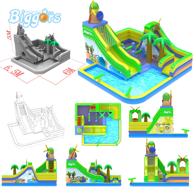 All In 1 New Arrival Inflatable Summer Water Slide Water Pool Slide Combo With Blowers