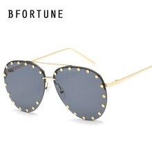 BFORTUNE Piloto Vendimia gafas de Sol Mujeres Hombres Primera Marca de Lujo Gafas de Sol de Espejo Retro Shades UV400 Gafas De Sol Gafas
