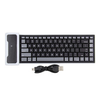 PC 84 Keys USB Silicone Rubber Waterproof Flexible Foldable Keyboard For PC IOS IPad Android Teclado