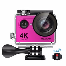 2017 High Quality Action Camera H9Pro with 170 Degree Wide Angle Lens 1080P 60fps WIFI Sport Action CameraMini Waterproof Camera