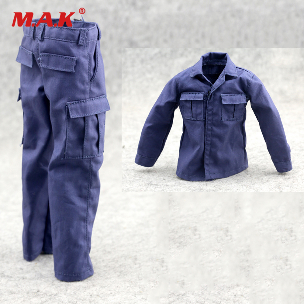 12/'/' Male Soldier Figure Body Accessories 1//6 Scale Body Shirt Clothes Blue