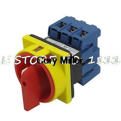 600V 63A AC 2 Position Rotary Cam 6 Terminals Universal Combination Switch ac 380v 12a rotary cam switch 3 pole 2 position 12 terminals