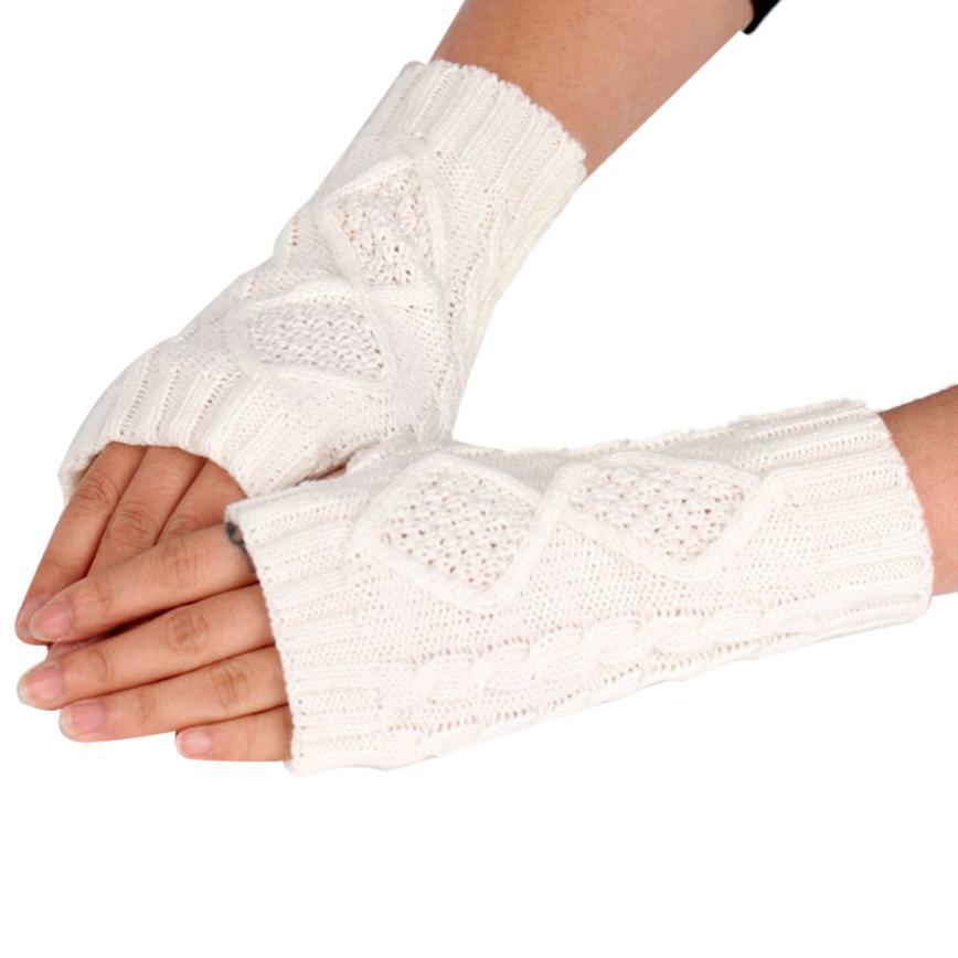 MUQGEW Womens Warm Diamond Winter Gloves Mittens Fashion Arm Warmers Sun Sleeves Gloves To Winter For Woman