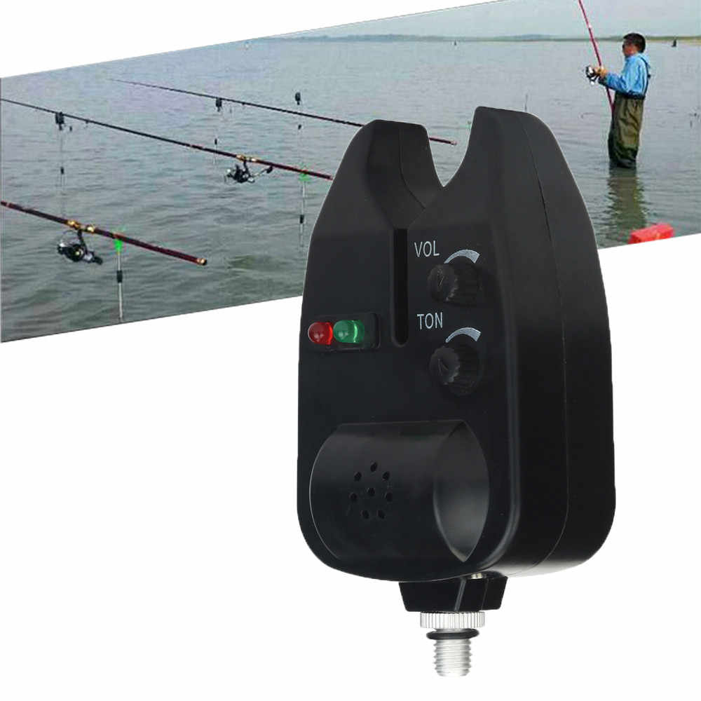 1pcs Fishing Electronic LED Light Fish Bite Sound Alarm Bell Clip On Fishing Rod Black Tackle Fishing Accessories 3.0#