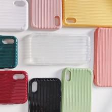 Funda de silicona suave antideslizante para iPhone 6 6S iPhone 7 8 Plus X 10 XR XS Max 7 funda trasera Color caramelo bonito TPU Plus 8 Plus