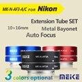 Meike MK-N-AF3A Metal AF Auto Foco Tubo de Extensão Macro anel Adaptador 10mm 16mm para Nikon J1 J2 J3 V1 V2