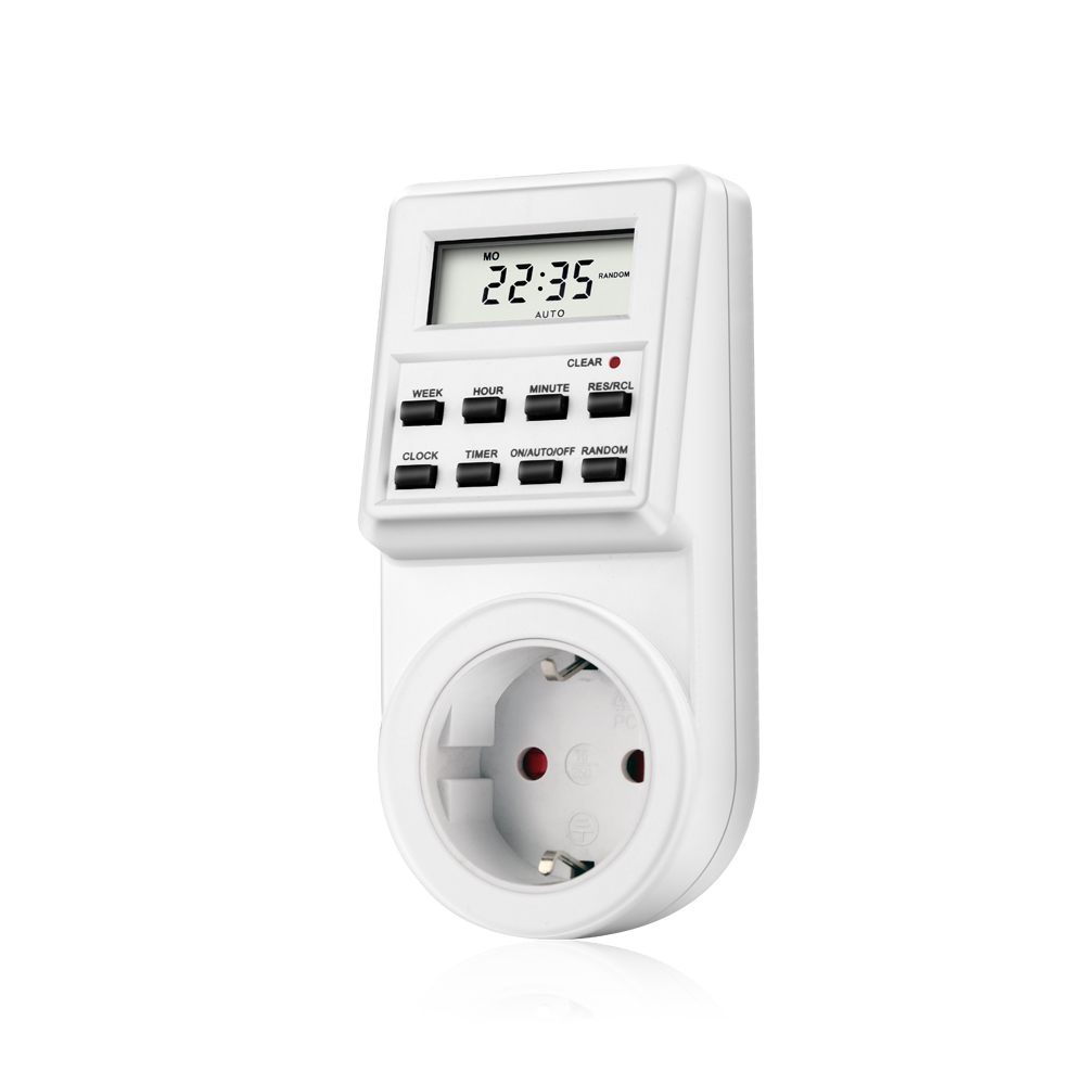 Digital Timer Switch Socket Tm02 Plug In Style Lcd Smart Control Green Wire Controls Fan Onauto De Tm03 Large Outlet