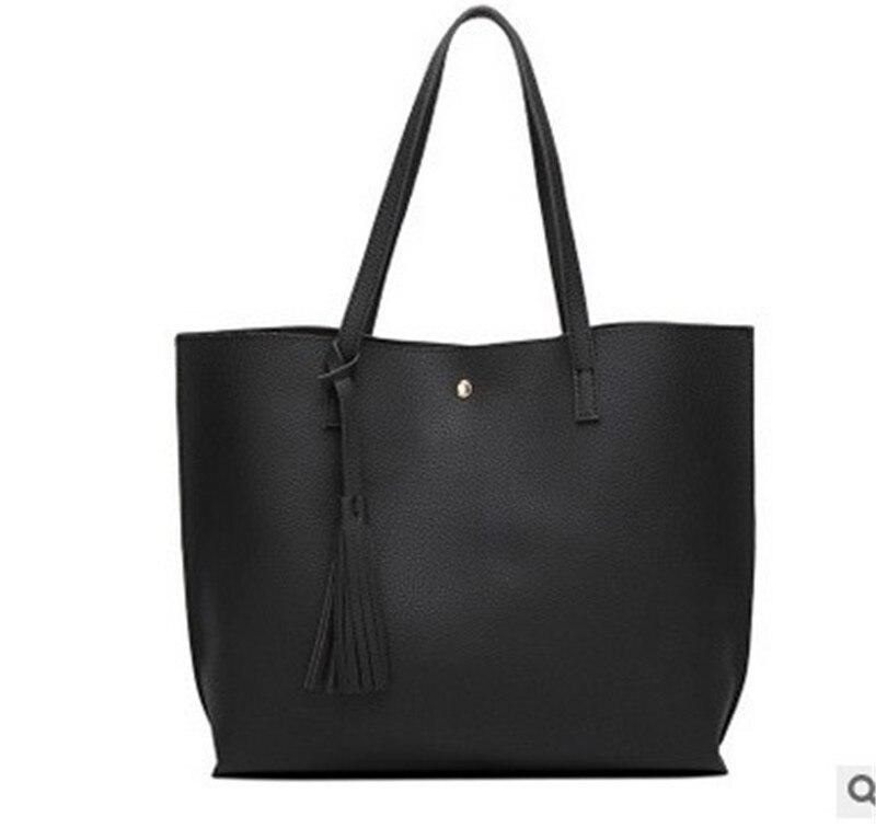 Women\\'S Soft Leather Handbag Women Shoulder Bag Luxury Tassel Bucket Bag Women\\'S Handbags