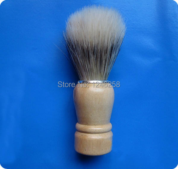 6pc/set Professional Barber Shaving Beard Neck Brush With Wood Handle
