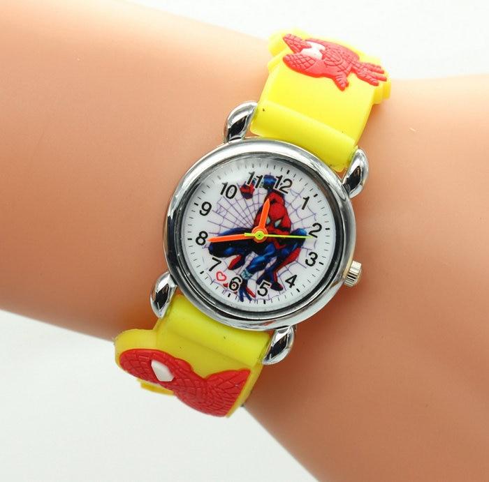 Watches New Fashion Spiderman Watches Children Watch Women Cute Cartoon Watch Kids Cool Quartz Watch Relogio Clock Hour Gift