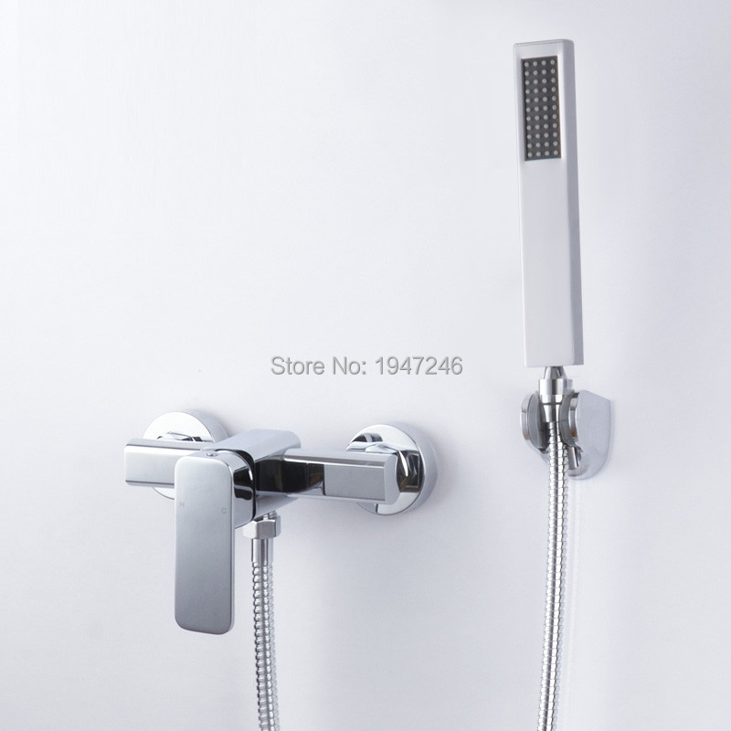 2015 Wholesale New Promotion Product Luxury Wall <font><b>Mounted</b></font> <font><b>Roman</b></font> <font><b>Tub</b></font> Filler Trim Faucet Bath Mixer Tap with Hand Shower