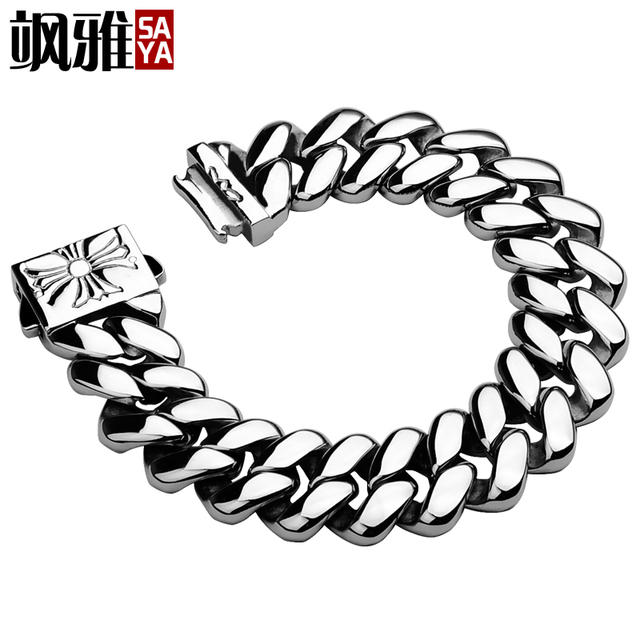 Fashion Jewelry Never Fade Titanium Steel Mens Bracelets 316L Stainless Steel Bracelets Bangles Brand Free Shipping