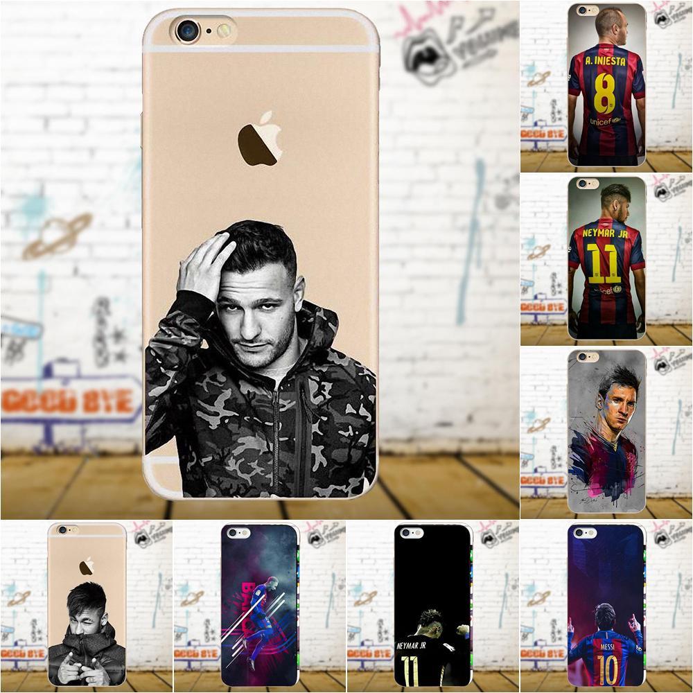Barcelona Soccer Star Ronaldo Messi Neymar Jersey For Xiaomi Redmi 5 4A 3 3S Pro Mi4 Mi4i Mi5 Mi5S Mi Max Mix 2 Note 3 4 Plus
