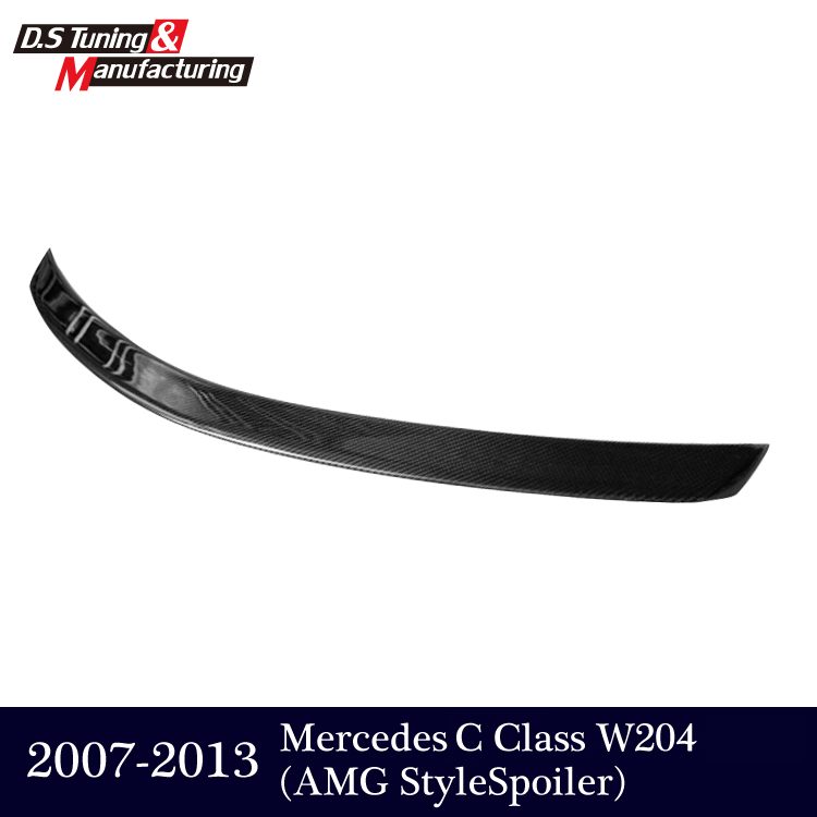 AMG style Mercedes W204 Carbon Fiber Rear Trunk Tail Wing Spoiler For Benz C Class W204 2007 - 2013 C180 C200 C300 C350 sedan 2015 2016 amg style w205 carbon fiber rear trunk spoiler wings for mercedes c class c180 c200 c250 c300 c350 c400 c450 c220