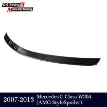 AMG stil Mercedes W204 Carbon Trunk Spoiler Für Benz C-klasse W204 2007-2013 C180 C200 C300 C350 limousine