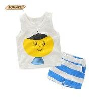 2017 Brand Bobo Choses Summer Kids Vest Cartoon T Shirt Striped Shorts Pants Baby Boys Clothes