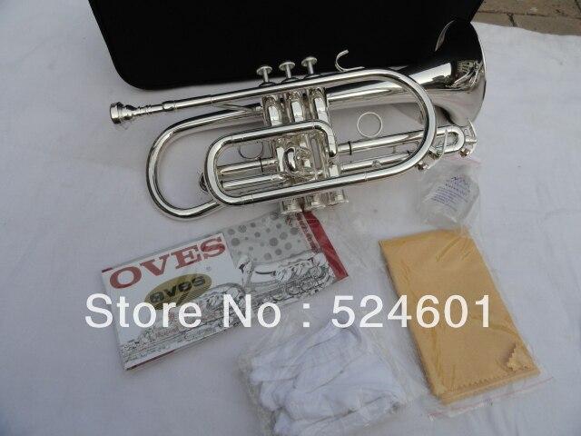 Gros fabricant de instrument de musique B le cornet trompette instrument surface argent placage