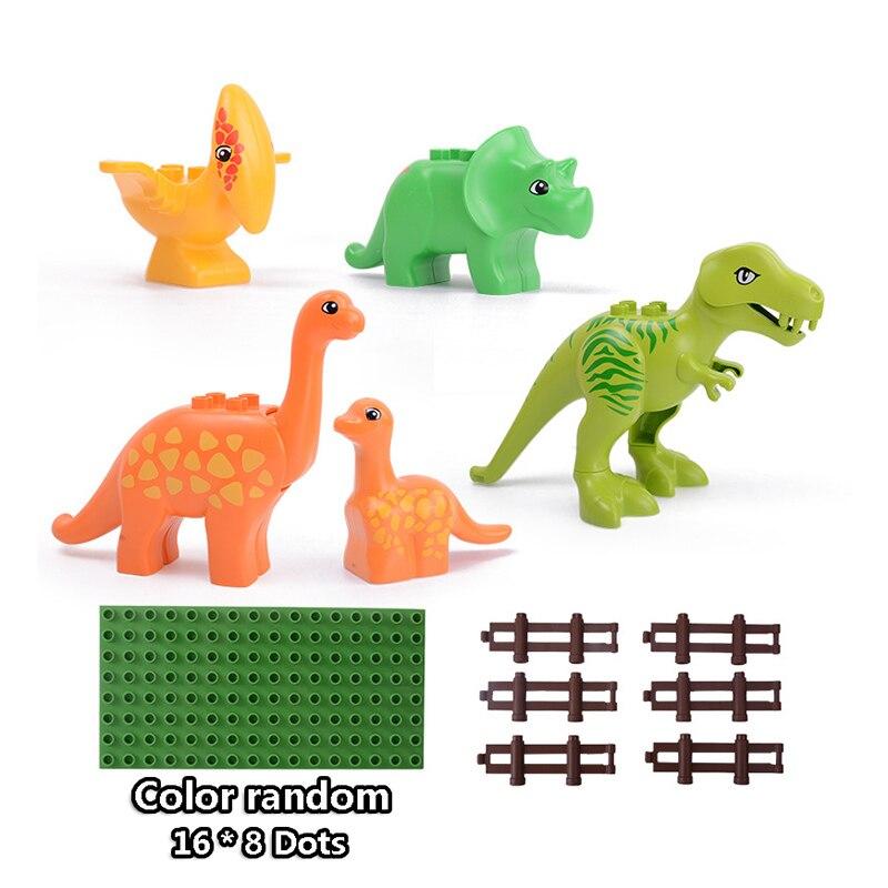 13-109pcs Large particles City Transport Team Car Model Series Building Block Bricks Compatible Duploe Toys for children Kids GIft (23)