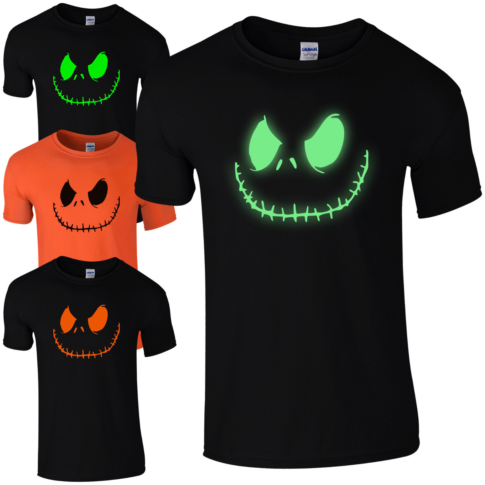 top quality t shirts o neck o neck men smiling jack spooky scary halloween fancy - Scary Halloween Shirts